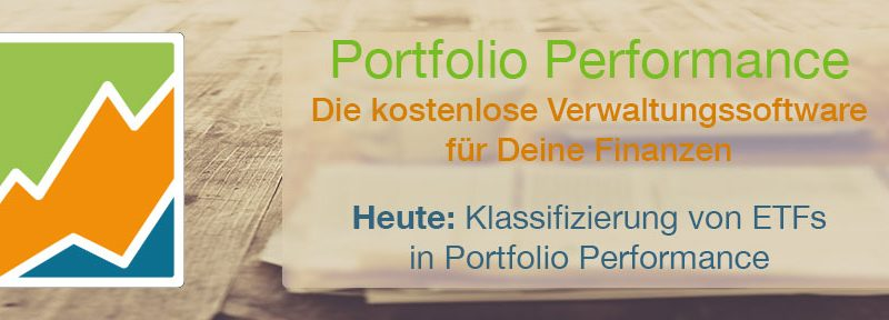 Klassifizierung von ETFs in Portfolio Performance
