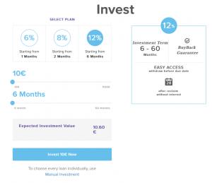 Der DoFinance Auto Invest ist schlicht und einfach gehalten.