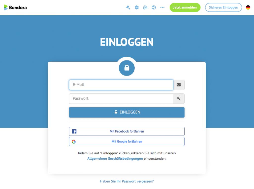Die Oberfläche der Plattform ist sehr aufgeräumt und vollständig in deutscher Sprache lokalisiert.