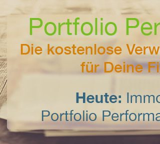 Immobilien in Portfolio Performance abbilden