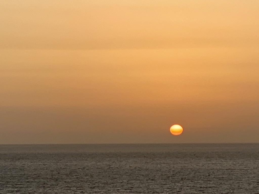 Sonnenaufgang um 7:00 Uhr